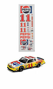 #11 Darrell Waltrip Pepsi 1983 1/64 scale decal fits AFX TYCO Lifelike Autoworld