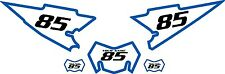 2008-2015 Yamaha WR250X Pre-Printed White Backgrounds with Blue Bold Pinstripe