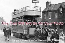 LI 144 - The New Electric Tram Car, Bracebridge Terminus, Lincoln, Lincolnshire
