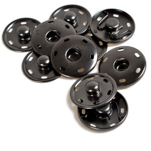 15/17/21/25/30mm Gunmetal Black Sewing Sew-on Snap Button Press Studs Fasteners