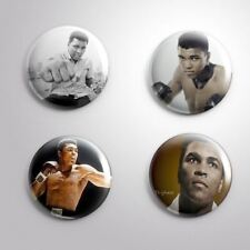 4 MUHAMMAD ALI BOXER Cassius Marcellus Clay - Pinbacks Badge Button Pin 25mm 1''