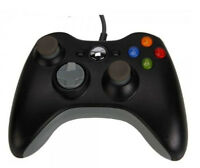 New Wired USB Game Pad Controller For Microsoft Xbox 360 Black USA Shipping