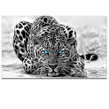 Wall Art Black White Animal Canvas Abstract Leopard Prints Picture Framed Decor