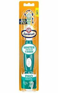 Arm & Hammer Spinbrush Pro Series White Battery Toothbrush, Medium