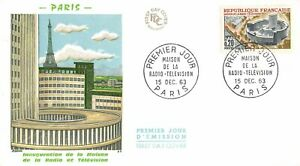 Envelope FDC France House of The Radio Television 1963 Paris