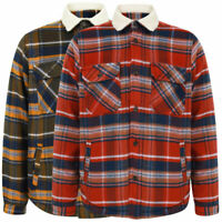 Tokyo Laundry Men's Checked Thick Fleece Lined Work Shirt Overshirt Jacket Top