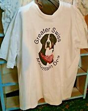 Greater Swiss Mountain Dog Xxxl Short Sleeve White T Shirt loveable face unisex