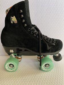 Moxi Lolly Roller Skates -BLACK- SIZE 7 Auction GUC Radar Energy Wheels