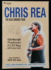 Chris Rea Signed Edinburgh Playhouse Poster 2004