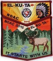 El-Ku-Ta Lodge 520 2015 NOAC OA Centennial 2-piece Set Mint Cond FREE SHIPPING