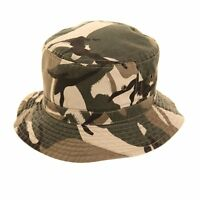 Camouflage Children's Bucket Hat Kids Sun Chino Beige Army  ReversibleBoys Girls