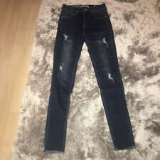 Brand New MissPap Dark Blue Distressed Skinny Jeans, Size 4/6