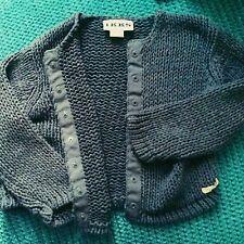 ikks girl purple / blue  knitted cardigan jumper 12-18 months