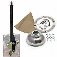Ford 16 Black Transmission Mount E-Brake with Tan Boot, Silver Ring and Cap