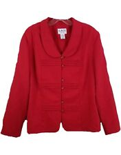Kari new york womens blazer size 18 long sleeve new with tags red