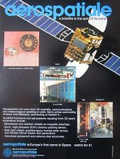 9/1982 PUB AEROSPATIALE SATELLITE SPACE INTELSAT ARABSAT METEOSAT ORIGINAL AD