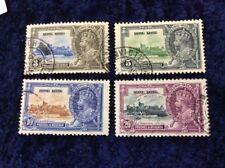 Hong Kong George V Silver Jubilee 1935 Very Fine Used SG 133/6