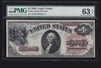 US 1880 $1 Washington Legal Tender FR 30 PMG 63 EPQ Ch CU (-769)