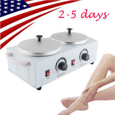 Double Pot Wax Warmer Heater Electric Dual Hard Hot Paraffin Pro Salon Spa Tool
