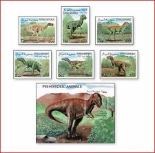 SOM9910 Dinosaurs 6 stamps and block MNH SOMALI 1999