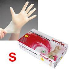 100 SunnyCare Powder Free Vinyl Gloves Food Service (Latex Nitrile Free) 🔥Small