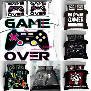 Gamer Playstation Duvet Cover Set Game Over Bedding Pillowcase Quilt Covers Sets