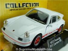 PORSCHE 911 CARRERA RS 1973 CAR MODEL 1/38 SIZE WHITE SPORTS VERSION R0154X{:}