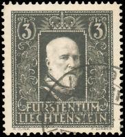 Liechtenstein  #152 Used CV$100.00 1938 3fr BLACK ON BUFF