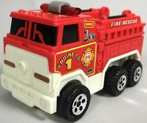 Vtg Buddy L Fire Rescue Truck Lights Voice Siren Wheels Move Battery Op 1994