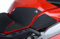 R&G Black Tank Traction Grips for Ducati Panigale V4, V4S and Speciale Models