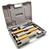 7pc Body Repair Kit Hammer and Dollies Shrinking Hammer Fibreglass Handles TE602