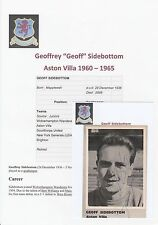 GEOFF SIDEBOTTOM ASTON VILLA 1960-65 & T.CASEY RARE ORIG SIGNED MAGAZINE CUTTING