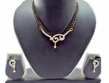 1.70ct NATURAL DIAMOND 14K YELLOW GOLD WEDDING ANNIVERSARY MANGALSUTRA SET