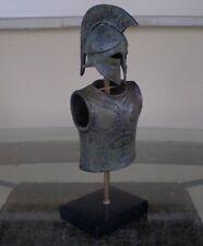 Greek Spartan Corinthian Small Bronze Helmet&Armor With Owl - Antique Style