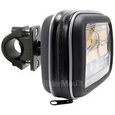 GPS SATNAV CASE MOTORBIKE BICYCLE HANDLEBAR MOUNT WATERPROOF
