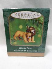 2000 Hallmark Keepsake Miniature Ornament Kindly Lions Noah's Ark