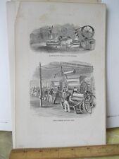 Vintage Print,INDIA RUBBER MACHINE,80 Year Progress,1869