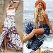 Zanzea Boho Women Ladies Beach Maxi Wrap Dress Floral Printed Party Long Skirts