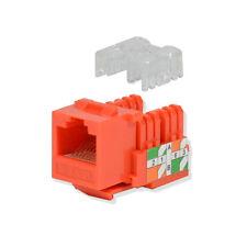 25 pack lot Keystone Jack Cat6 Orange Network Ethernet 110 Punchdown 8P8C