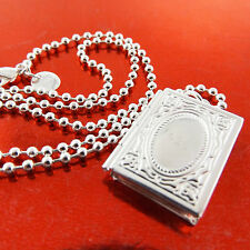 FSA875 GENUINE REAL 925 STERLING SILVER SF ANTIQUE LOCKET PENDANT NECKLACE CHAIN