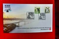 NZ2020 SOUVENIR ENVELOPES POSTMARKED AT THE SHOW 22 MARCH SHIP POSTMARK