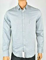 DKNY Mens Gray Shirt New M XL Slim Fit Active Stretch Casual Dress Party Ret $85