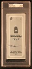 MUHAMMAD ALI signed Isalm pamphlet PSA encapsulated 9 MINT Slabbed autographed