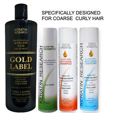 Gold Label Powerful Brazilian Keratin Blowout Hair Treatment Straightening Kit