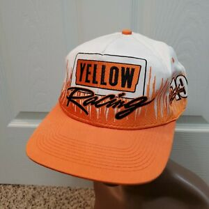 Vintage Mike Skinner #19 Yellow Freight Racing Snapback Hat Cap Nascar Yellow