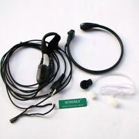 Throat Mic Headset/Earpiece For Midland 2 Two Way Radio Walkie Talkie Finger PTT