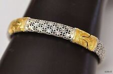 Konstantino Women's Classic Bracelet Sterling Silver 18K Yellow Gold New