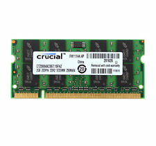 Crucial 2GB PC2-5300 DDR2-667MHz SODIMM Memory RAM For Apple Macbook iMac A1225