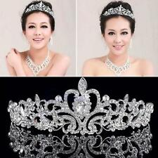 Wedding Bridal Rhinestone Silver Crystal Crown Pageant Prom Veil Headband HOT FT