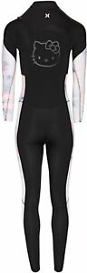 Hurley Hello Kitty Sanrio 3/2MM Women's Size 8 Wetsuit Fullsuit Black RARE EUC